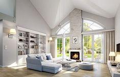Красивый дом с большим гаражом и с чердачным помещением S8-227-5 (Дом на Парковой). Визаулизация 3. Shop-project