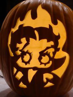 Devil Stencil Pumpkin Carving - Viewing Gallery
