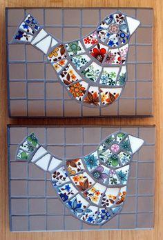 by Artichoke Mosaic Mosaic Rocks, Mosaic Tile Art, Mosaic Diy, Mosaic Garden, Mosaic Crafts, Mosaic Glass, Mosaic Animals, Mosaic Birds, Mosaic Designs