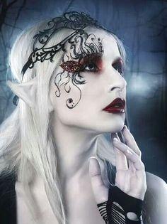 Vanessa by RebecaSaray - Dark / Gothic Art Goth Makeup, Eye Makeup, Movie Makeup, Drag Makeup, Dark Fairy Makeup, Halloween Make Up, Halloween Face Makeup, Halloween 2018, Halloween Ideas