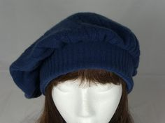 Upcycled Sweater TAM Beret Hat