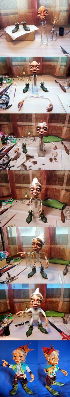Creating Dado - E. Bisetto...[how to make a doll without a base to keep the doll standing..bg]
