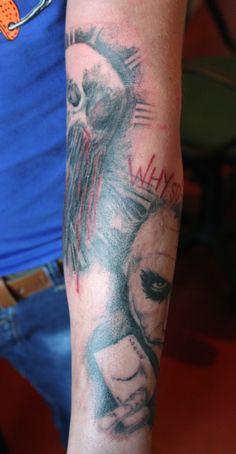 By #ninelmagic #tattoo #skull #joker