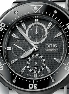Oris ProDiver 51mm Chronograph diving watch (dial)