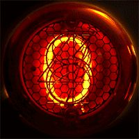 The digits of a Nixie tube, which is a neon glow lamp with ten electrodes shaped as the ten numerals. The digits of this tube are in. Nixie Tube, Glow Lamp, Neon Glow, Vacuum Tube, Neon Lighting, After School, Steampunk, Activities, Clock Ideas