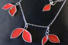 Necklace of sterling silver with resin-based color by Jennie Milner