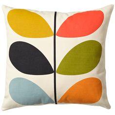 Buy Orla Kiely Linear Stem Cushion, Multi | John Lewis