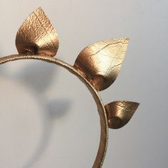 Gold petal flower crown  Shop via etsy