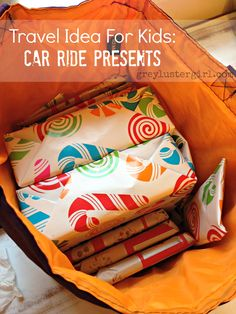 Travel Idea for Kids: Car Ride Presents