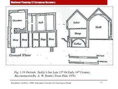 medieval plans floor plan cottage inn houses castle