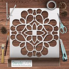 Mandala Style Symmetrical Stencil - Wall Decor Reusable Stencil – StencilsLab Wall Stencils by sonya