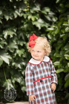 Lindy's Lunch dress in traditional Tillingham Tartan is an adorable a-line dress. She'll be preppy in plaid when she goes back to school and totally fabulous a