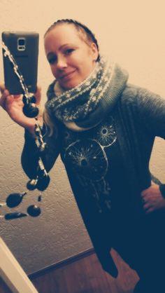 Eins der wenigen Selfie's von meinem Schal