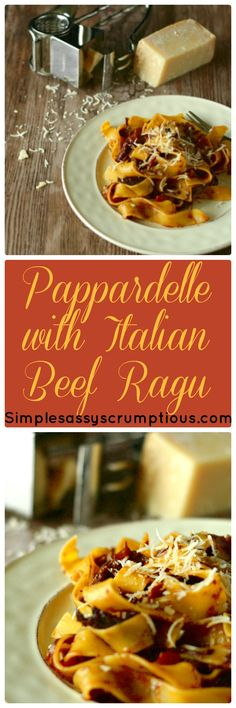 Egg Pappardelle pasta with an Italian Beef Ragu.