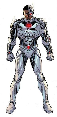 Dc comic Cyborg by Timothy Green II Cyborg Dc Comics, Marvel Dc Comics, Justice League Characters, Dc Characters, Teen Titans, Gi Joe, Les Nations Unies, Timothy Green, Ghost Rider