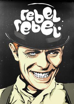 Oilustrador brasileiro Butcher Billy transformaDavid Bowie em vários personagens da cultura pop stylo urbano-2
