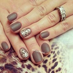 30 Amazing Brown Nail Designs - London.trusttown.net