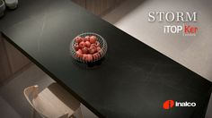 New Storm iTOPKer Series, inspired by the dynamism and beauty of natural stone has been conceived for use as countertop.