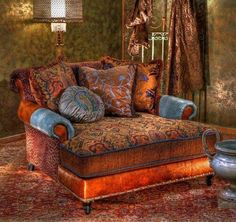 Furniture , Oversized Chair For Living Room : Bohemian Style Oversized Chair With Cushions