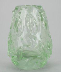 HELENA TYNELL - Glass vase for Riihimäen Lasi Oy, Finland. Glass Design, Design Art, Lakes, Finland, Modern Contemporary, Retro Vintage, Glass Vase, Ceramics, Creative