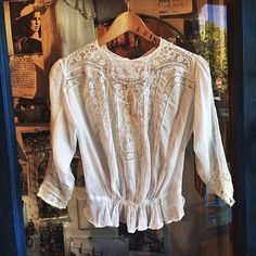 The most beautiful #vintage blouse. Come see for yourself, we have a ton of new arrivals at #tavinboutique.