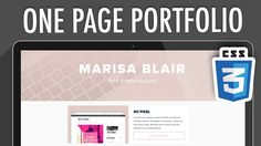 One Page Portfolio Responsive Website CSS3 (PART 2) | XO PIXEL