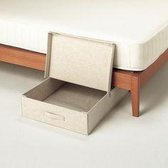 Under Bed Cotton Storage Linen Clothing Box F Organization 33j13bzi