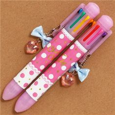 pink polka dot and lace Ballpoint Pen 8 colours