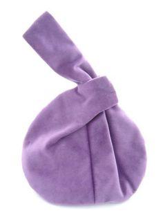 Vintage Style Vogue Lilac Velvet  Wrist Bag  Hand by Artsetera, £26.50