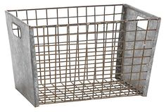 One Kings Lane - Stock Up for the Season - Metal Wire Basket, Medium