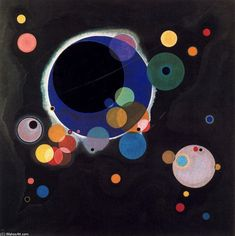 Wassily Kandinsky Several Circles painting, oil on canvas & frame; Wassily Kandinsky Several Circles is shipped worldwide, 60 days money back guarantee. Drawing Lessons, Art Lessons, Kandinsky Art, Kandinsky Prints, Wassily Kandinsky Paintings, Harlem Renaissance, Art Abstrait, Art Design, Graphic Design
