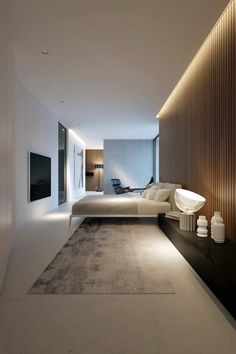 40 Best Bedroom Interior Design You Will Love to Makeover Your Home! Awesome Design Ideas for Your Bedroom. Try this beautifulgreat design ideas. Modern Interior, Home Interior Design, Interior Architecture, Luxury Interior, Architecture Plan, Residential Architecture, Home Decor Bedroom, Modern Bedroom, Minimal Bedroom