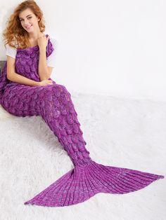 Shop Purple Crocheted Fish Scale Design Mermaid Blanket online. SheIn offers Purple Crocheted Fish Scale Design Mermaid Blanket & more to fit your fashionable needs.