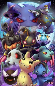 Pokemon Ghosts – Pokémon Games – Pokémon Anime – Pokémon GO Fotos Do Pokemon, Gif Pokemon, Pokemon Tattoo, Pokemon Party, Pokemon Images, Pokemon Fan Art, Pokemon Pictures, Pokemon Meowth, Pokemon Birthday