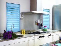 Shutters for kids rooms? - Shutters for kids rooms? Best Picture For shutters repurposed ideas For Yo - Shutters With Curtains, Wooden Window Shutters, Diy Shutters, Interior Shutters, Blue Shutters, Kitchen Window Shelves, Kitchen Shutters, Kitchen Window Coverings