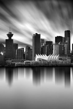 Architectural scenes and black and white bridges as. An expert in long exposure photography providing ebooks and video tutorials. Vancouver Skyline, Vancouver City, Vancouver Island, Vancouver Photography, City Photography, Photography Ideas, Positano, Vancouver Aquarium, Costa