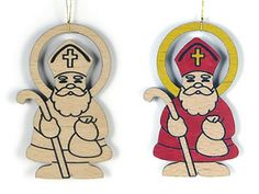 Wood ornament from Slovakia--color with markers; available in our shop  http://www.stnicholascenter.org/pages/ornament-small/