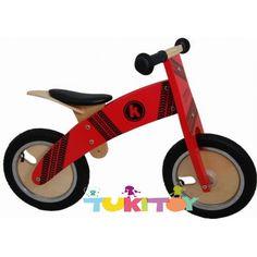 Bicicleta aprendizaje de madera Kiddimoto kurve Rojo Tyre #Kiddimoto Kurve Cherry Las #bicicletas #sinpedales de madera #Kiddimoto son perfectas para el #aprendizaje. Estas #bicicletas desarrollan la #motricidad gruesa, el sentido del #equilibrio y la #coordinación. Les enseña a controlar el espacio aumentando su autoconfianza y #seguridad. Fabricada en madera resistente y ligera a la vez permitirá al #niño desplazarse sin mayor dificultad, el sillín es regulable a distintas alturas