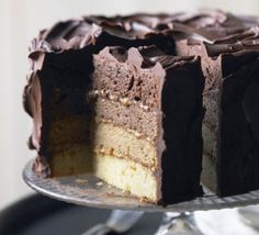 Chocolate caramel layer cake More