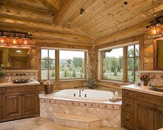 Bathroom Log Home