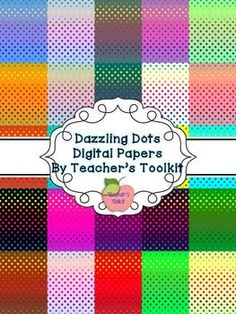 Dazzling Polka Dot Digital Background Papers Clipart Commercial use OK...These are so fun!