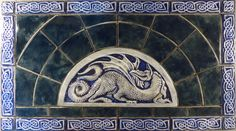 Celtic dragon tile set, one of many fine designs from Earth Song Tiles of BC