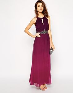 Enlarge Little Mistress Ombre Maxi Dress with Embellished Waist