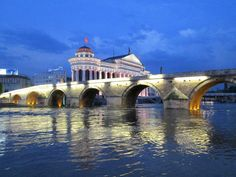 Skopje, Republic of Macedonia Macedonia Skopje, Republic Of Macedonia, Paradise On Earth, Thessaloniki, Bosnia, Beautiful Places To Visit, Travel Europe, Bridges, Middle East