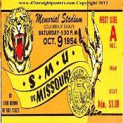1954 Missouri football ticket coasters. http://www.christmasfootballgifts.com/ Christmas football gifts! The best football Christmas gifts in America!