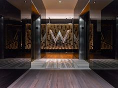 The W Chicago Lakeshore lobby was designed as a distinctly modern urban escape filled with dramatic glamour. The outcome of the innovative renovation is a st. Elevator Lobby Design, Hotel Lobby Design, Bentley Hotel, Hotel Corridor, Lobby Interior, Interior Design, Chicago Hotels, Hotel Reception, W Hotel
