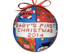 Handmade 2014 Baby's First Christmas Ornament by craftcrazy4u