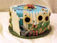 garden themed cake ideas | garden cake