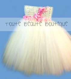 Tutu Dresses Available in sizes newborn and up! Custom colors and accents available (flowers, rhinestones, etc). Order yours today by sending an email or finding us on facebook. Don't forget to repin, share, follow, and like! www.facebook.com/TouteBeauteBoutique