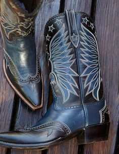 Black and Blue Western Boot by Rocketbuster Handmade Custom Boots | Boots a-z | Texas